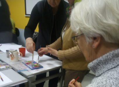"""""""Piękny umysł"""" – trening twórczości z arteterapeutką Lilią Potonią w Klubie Przyjemnych Spotkań"""