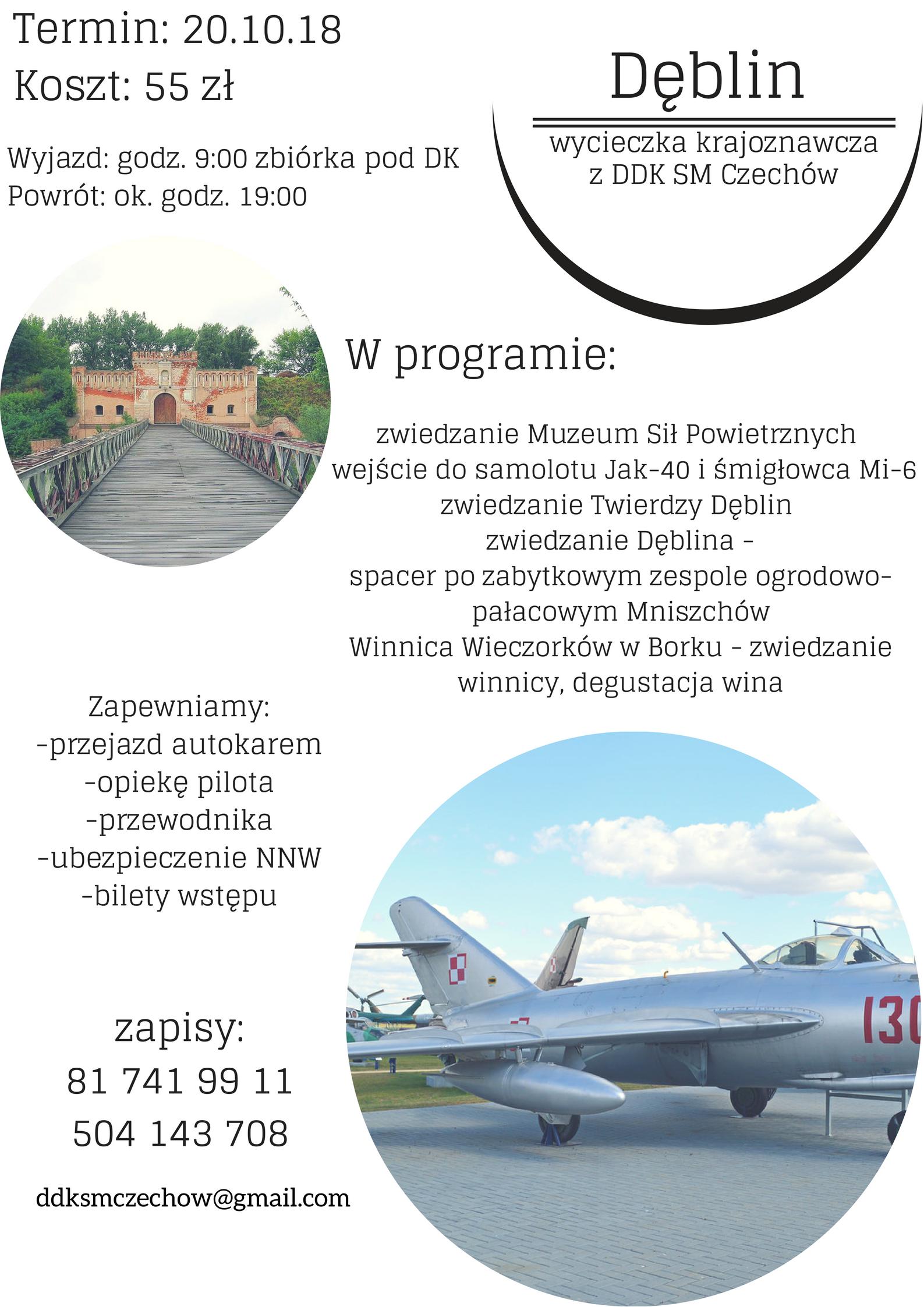 """Dęblin. Wycieczka krajoznawcza z DDK SM """"Czechów"""""""