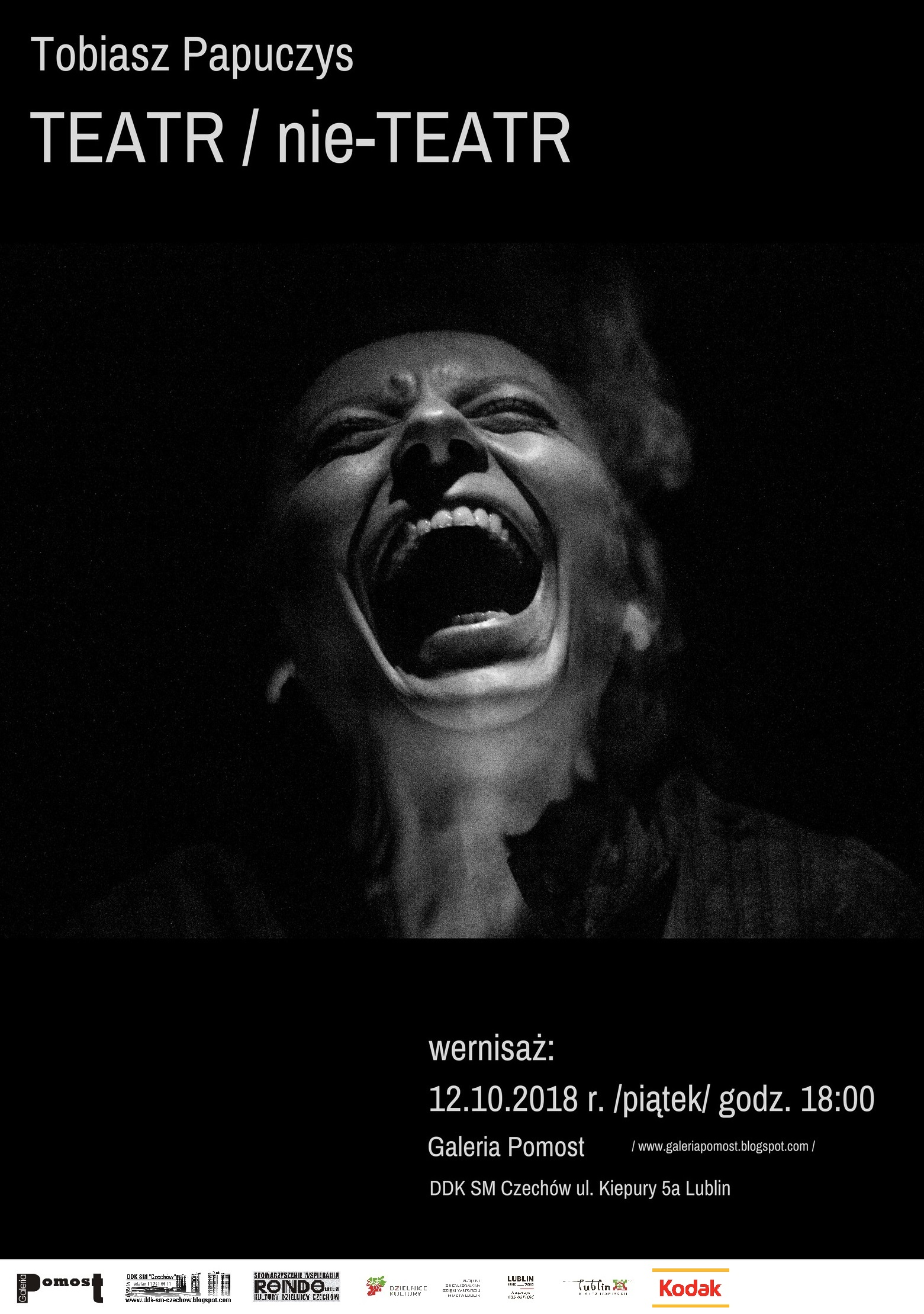 """Wernisaż wystawy Tobiasza Papuczysa pn.""""Teatr/ nie-Teatr"""""""