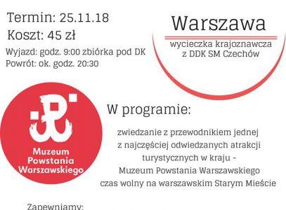 """Wycieczka do Muzeum Powstania Warszawskiego z DDK SM """"Czechów"""""""