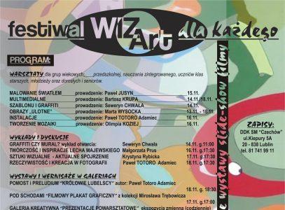"""Festiwal Sztuk Wizualnych WIZArt w DDK SM """"Czechów"""""""