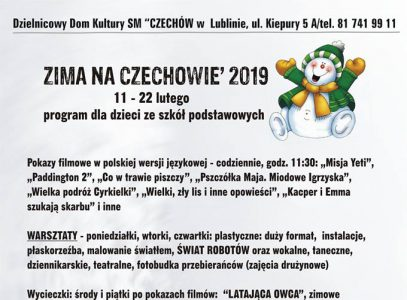 Program Zimy na Czechowie 2019