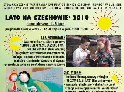 Lato naCzechowie 2019 – turnus I