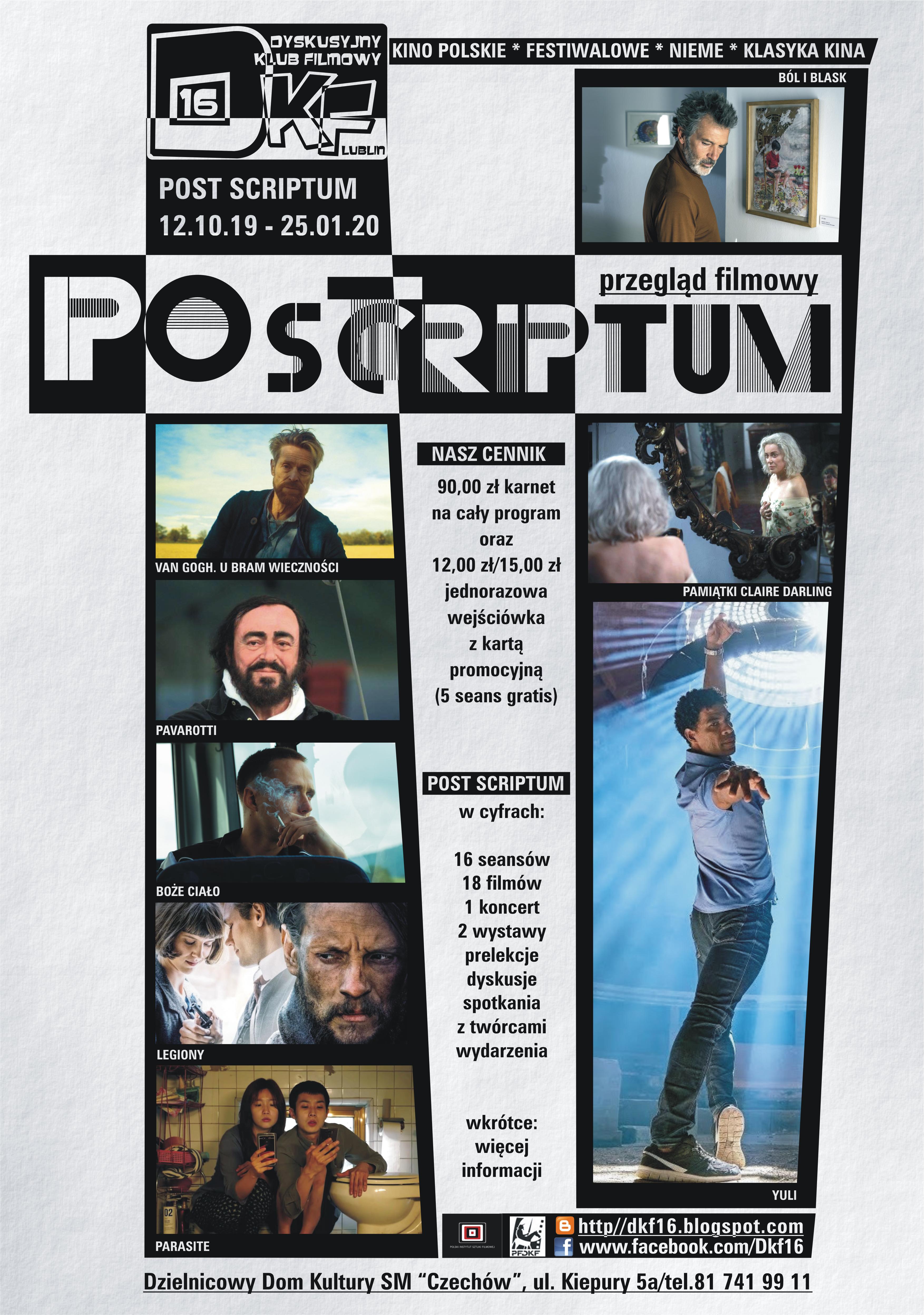 Post Scriptum 2019/2020