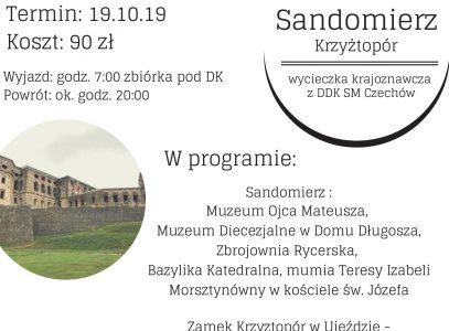 Wycieczka Sandomierz 19.10 – trwają zapisy