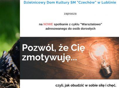 """Nowe zajęcia zcyklu """"Warsztatowo"""""""