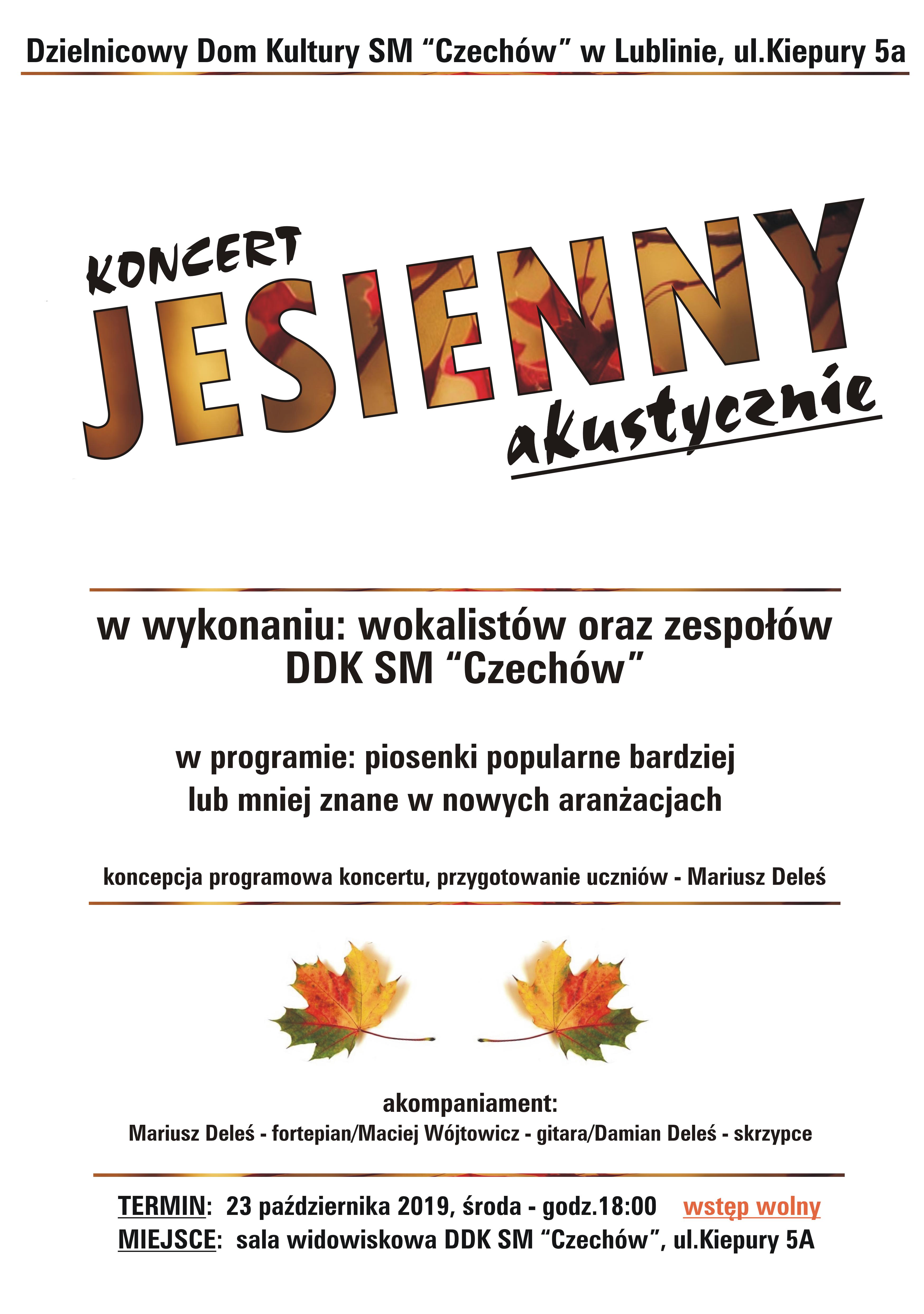 Koncert jesienny akustycznie