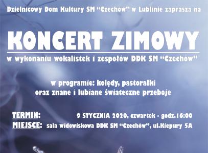 """Koncert Zimowy wwykonaniu wokalistek izespołów DDK SM """"Czechów"""""""