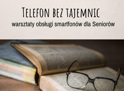 """Zaproszenie nawarsztaty """"Telefon beztajemnic"""""""