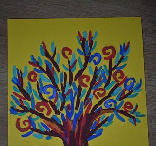 #zostańwdomu Malowanie plasteliną inspirowane Drzewem życia Gustawa Klimta
