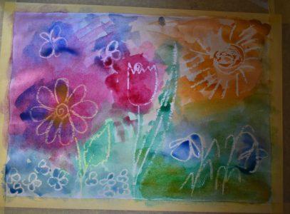 Wiosenne kwiaty – zajęcia manualne online