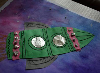 Kosmiczna podróż – zajęcia manualne