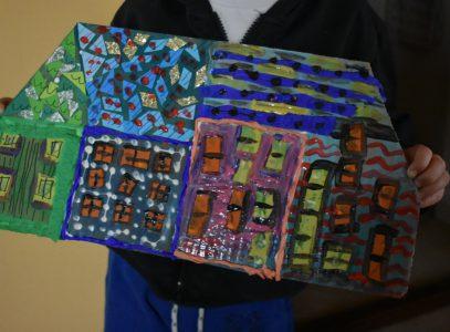 Kolorowe kamienice – zajęcia manualne