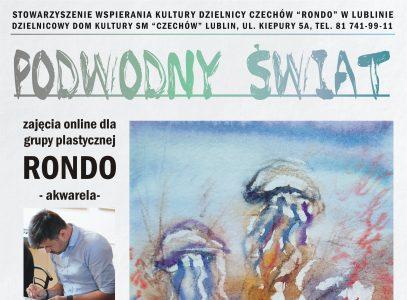 """""""Podwodny świat"""" lekcja 2 – zajęcia akwareli grupy Rondo online"""