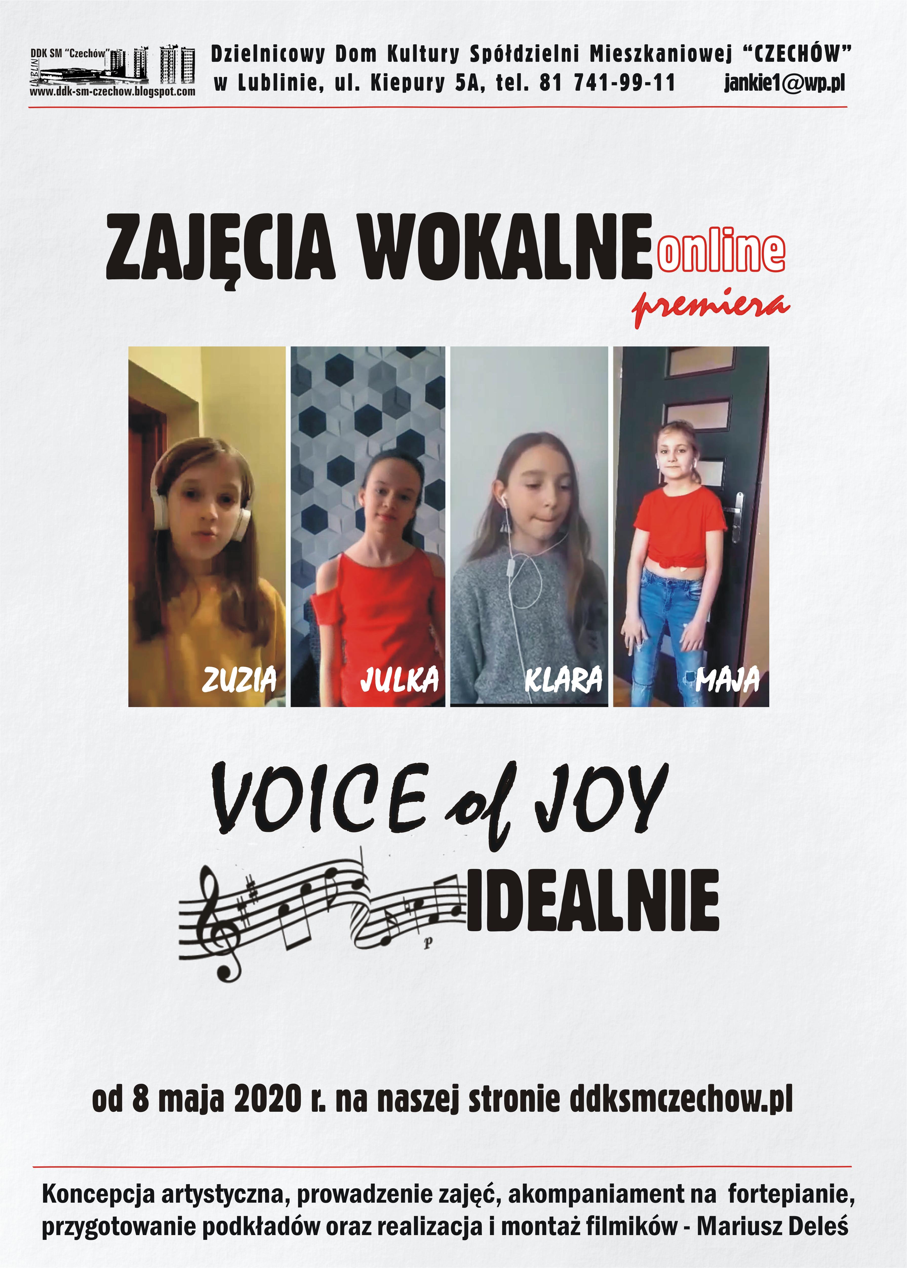 """Premiera utworu """"Idealnie"""" zespołu Voice of Joy"""