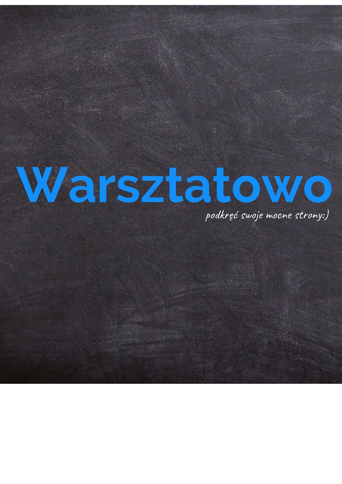 """Zapraszamy na""""Warsztatowo"""":)"""