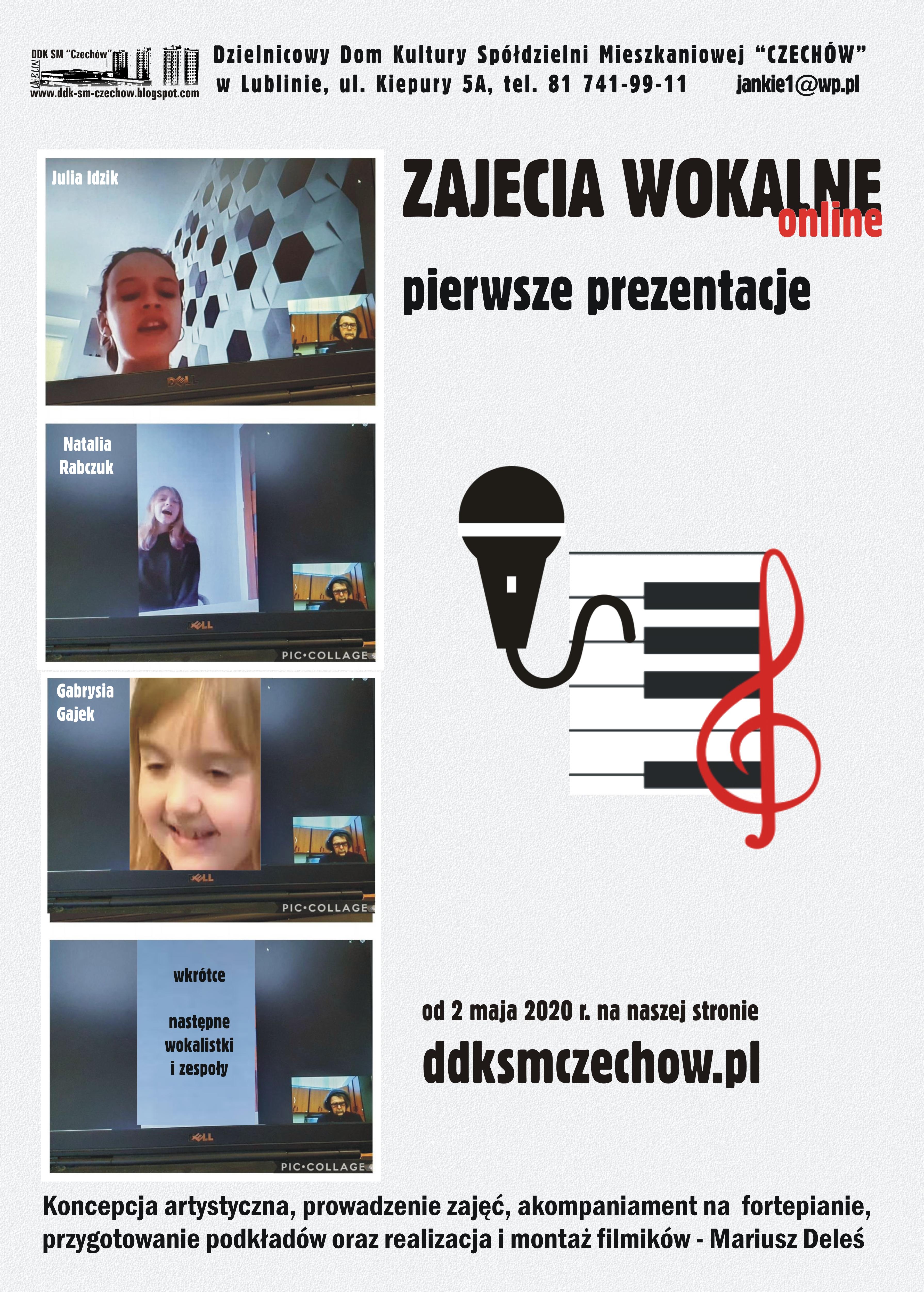 Efekty zajęć wokalnych online