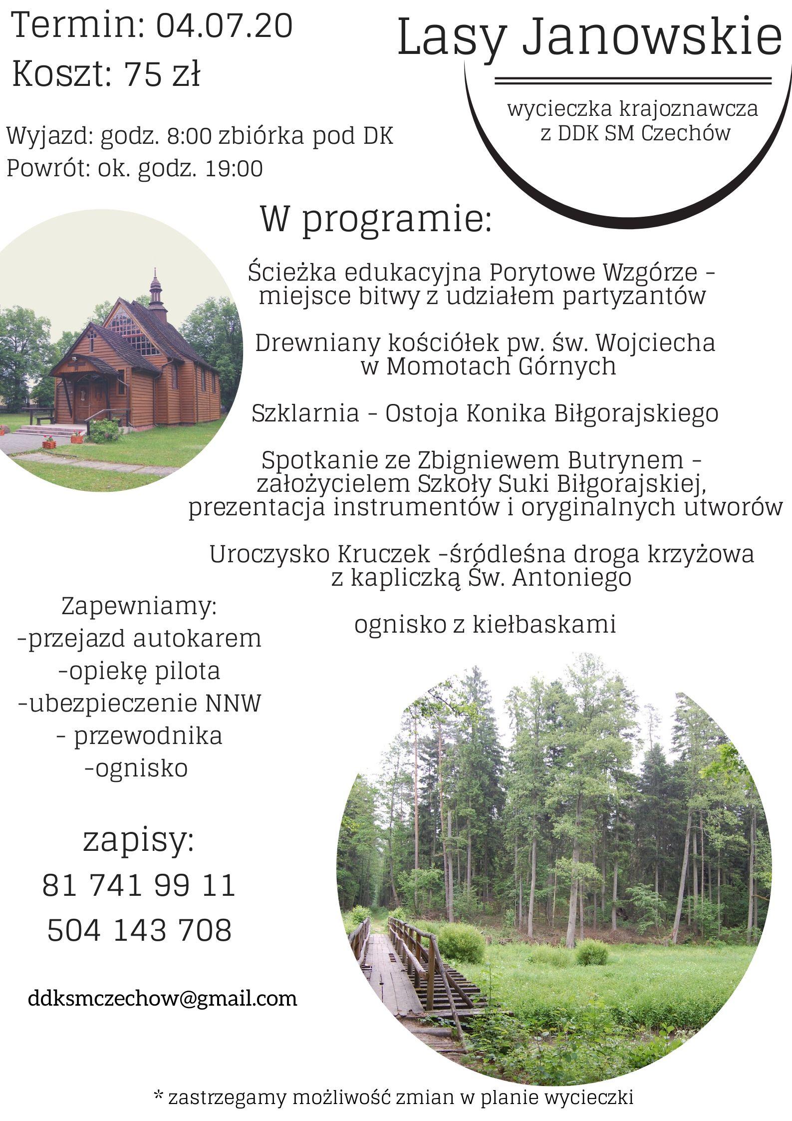 wycieczka krajoznawcza – Lasy Janowskie