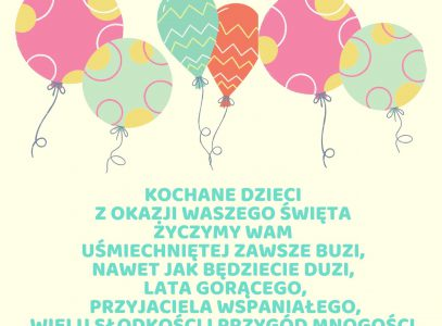 Serdeczne życzenia dla wszystkich dzieci!