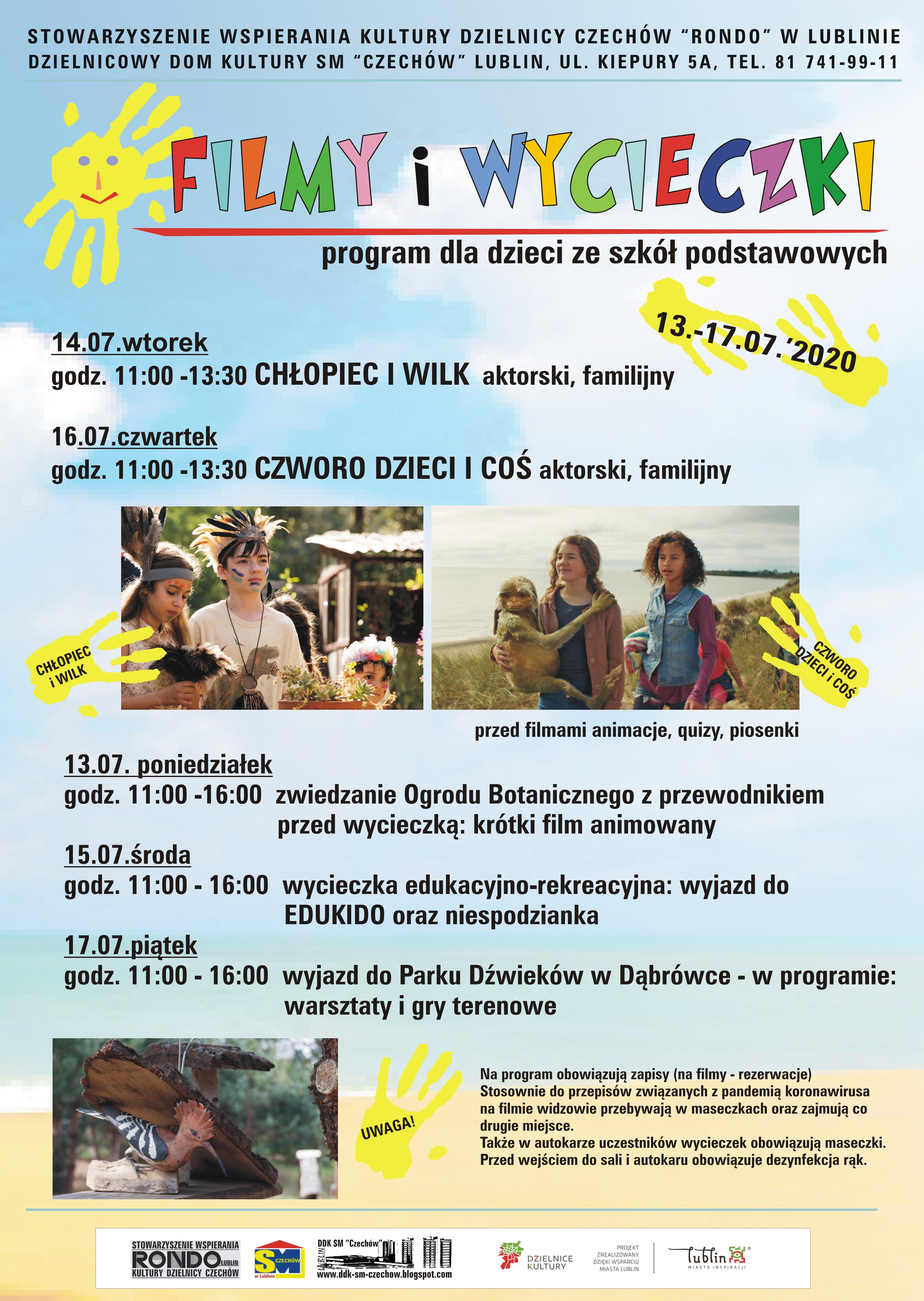 Filmy iwycieczki – 13-17.07.2020 r.