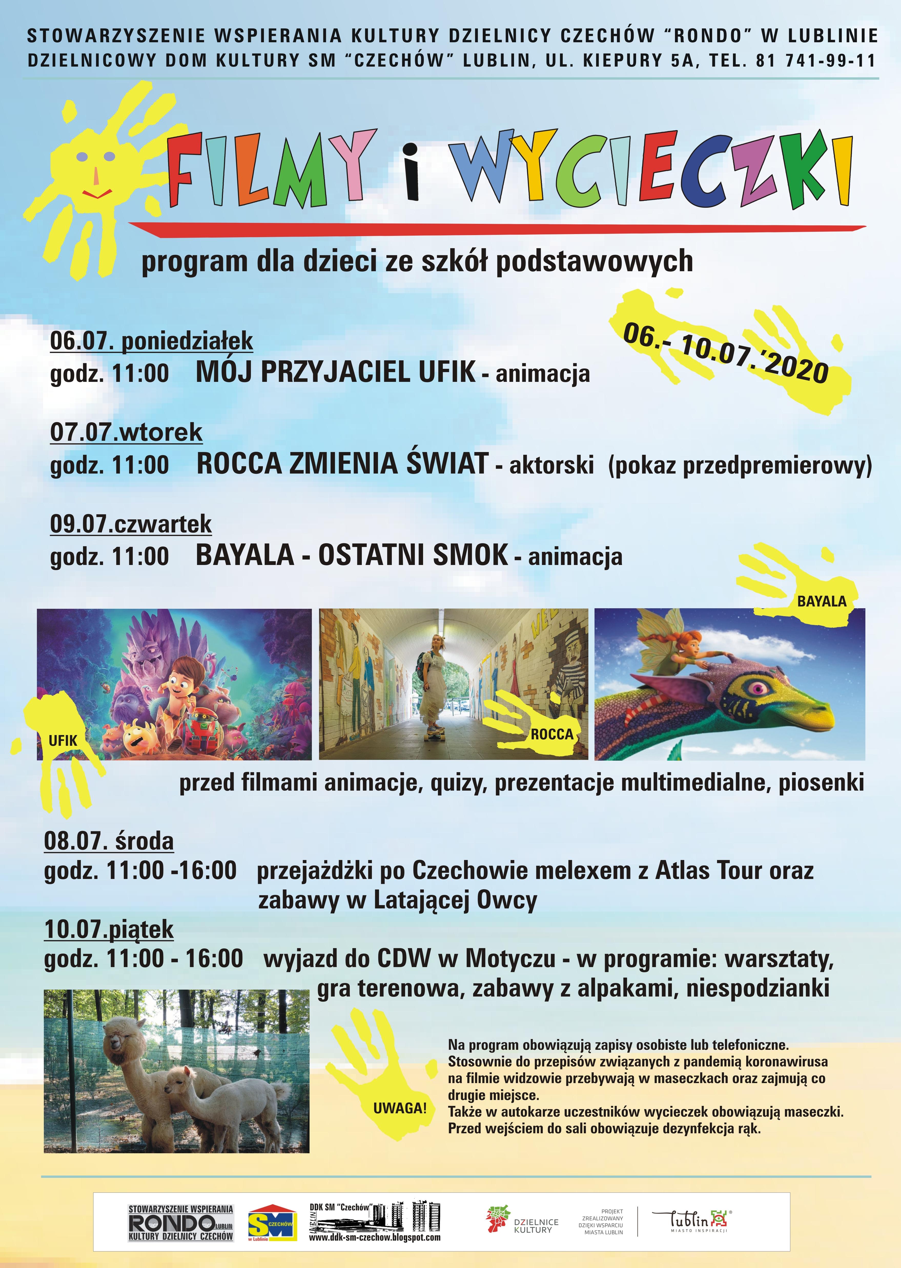 Filmy iwycieczki – 6-10.07.2020 r.