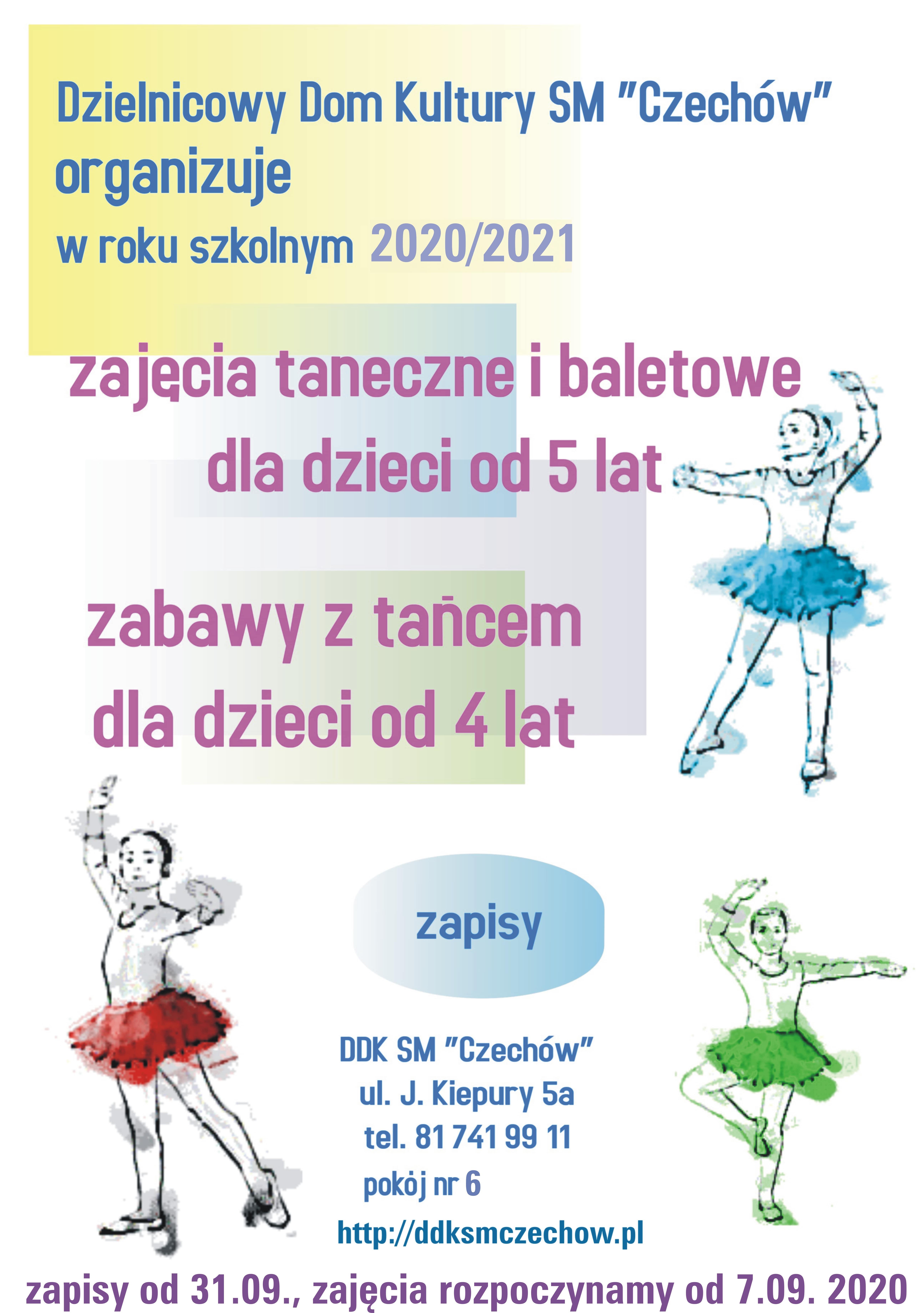 Zajęcia wroku szkolnym 2020/2021