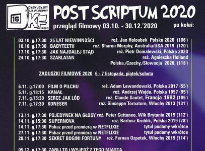 Post Scriptum  03.10.2020 r. – 30.12.2020 r.