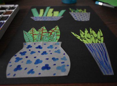 Rośliny wdoniczkach – zajęcia manualne