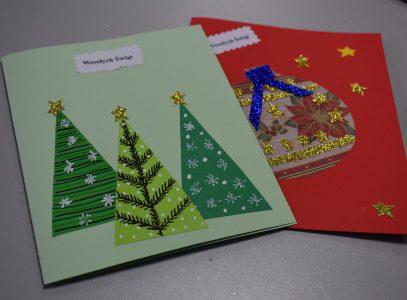 Kartki świąteczne – zajęcia manualne
