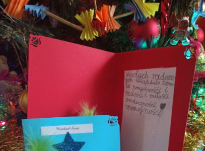 Rodzinne warsztaty kartek iżyczeń świątecznych, grudzień 2020