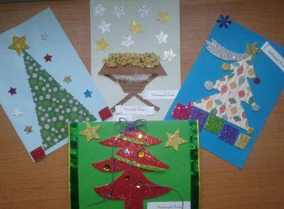 Rodzinne warsztaty kartek iżyczeń świątecznych:)